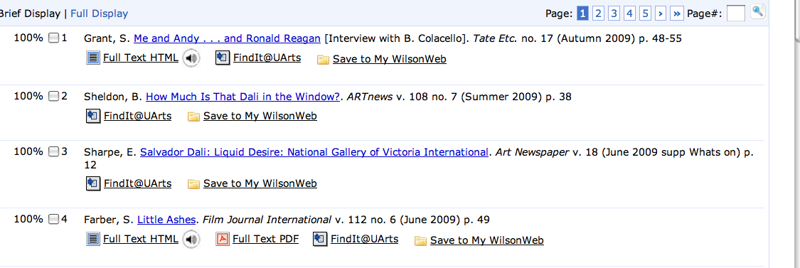 WilsonWeb search results