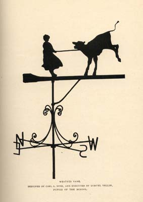 Weathervane by Carl A. Dubs and Samuel Yellin
